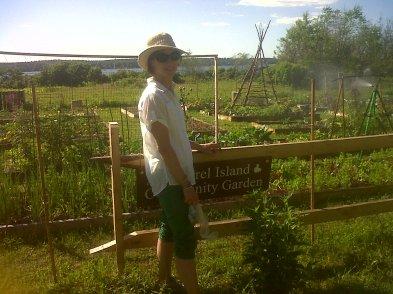 Me at Squirrel Island Garden