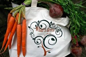 Green wtih Betsy Market Bag