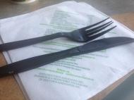 fast food waste - plastic cutlery